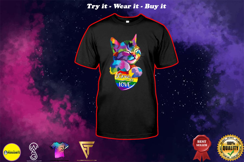 lgbt cat love is love shirt