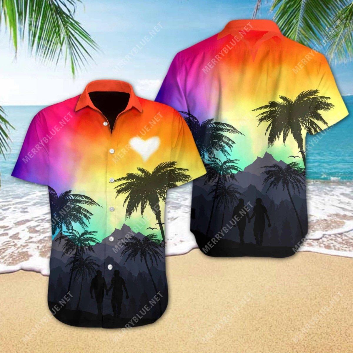 lgbt love all over printed hawaiian shirt 2