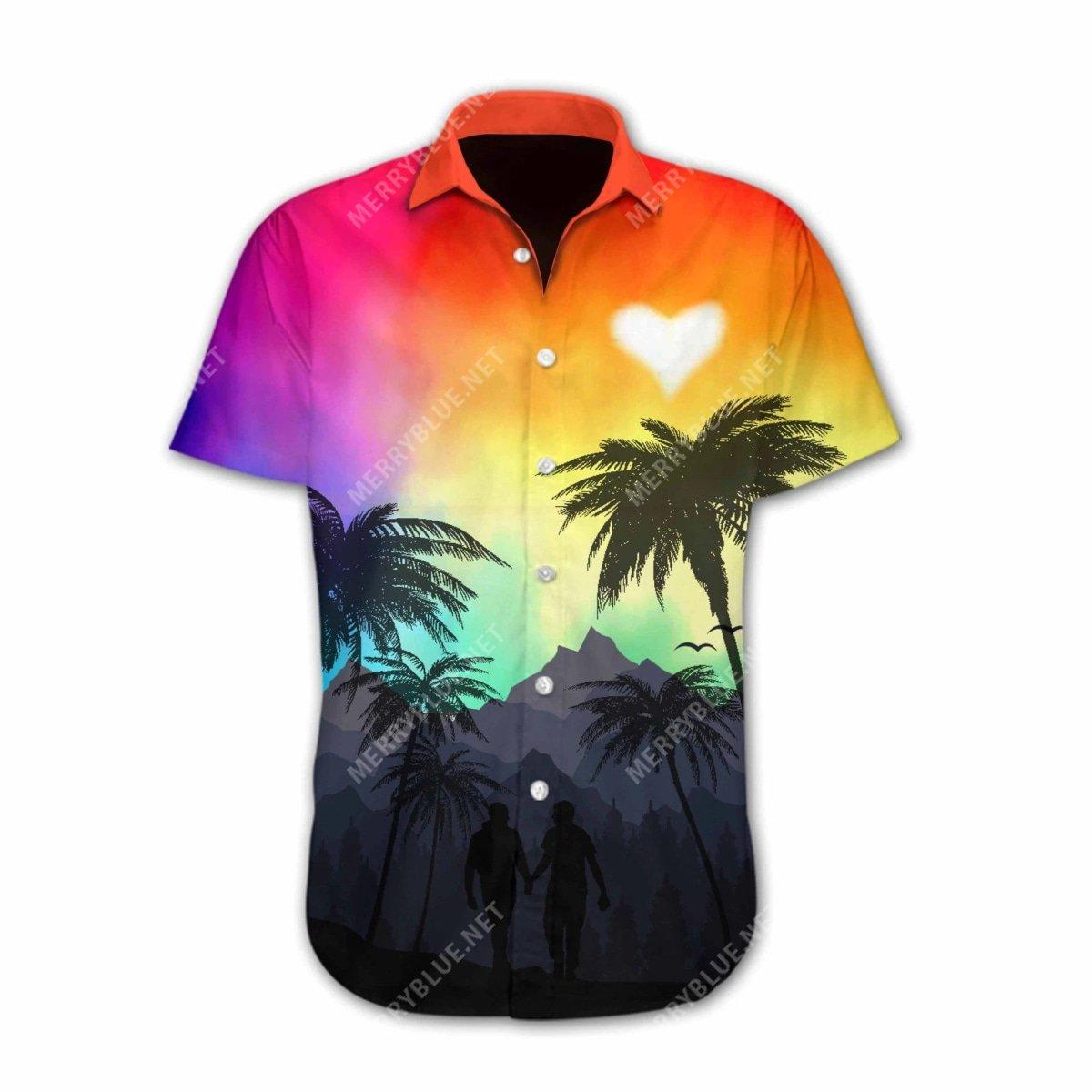 lgbt love all over printed hawaiian shirt 5