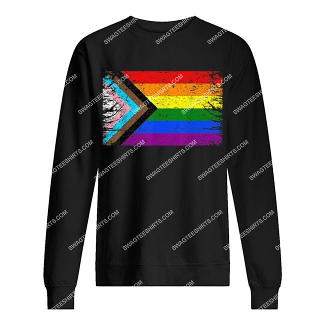 lgbt pride new flag pride flag sweatshirt 1