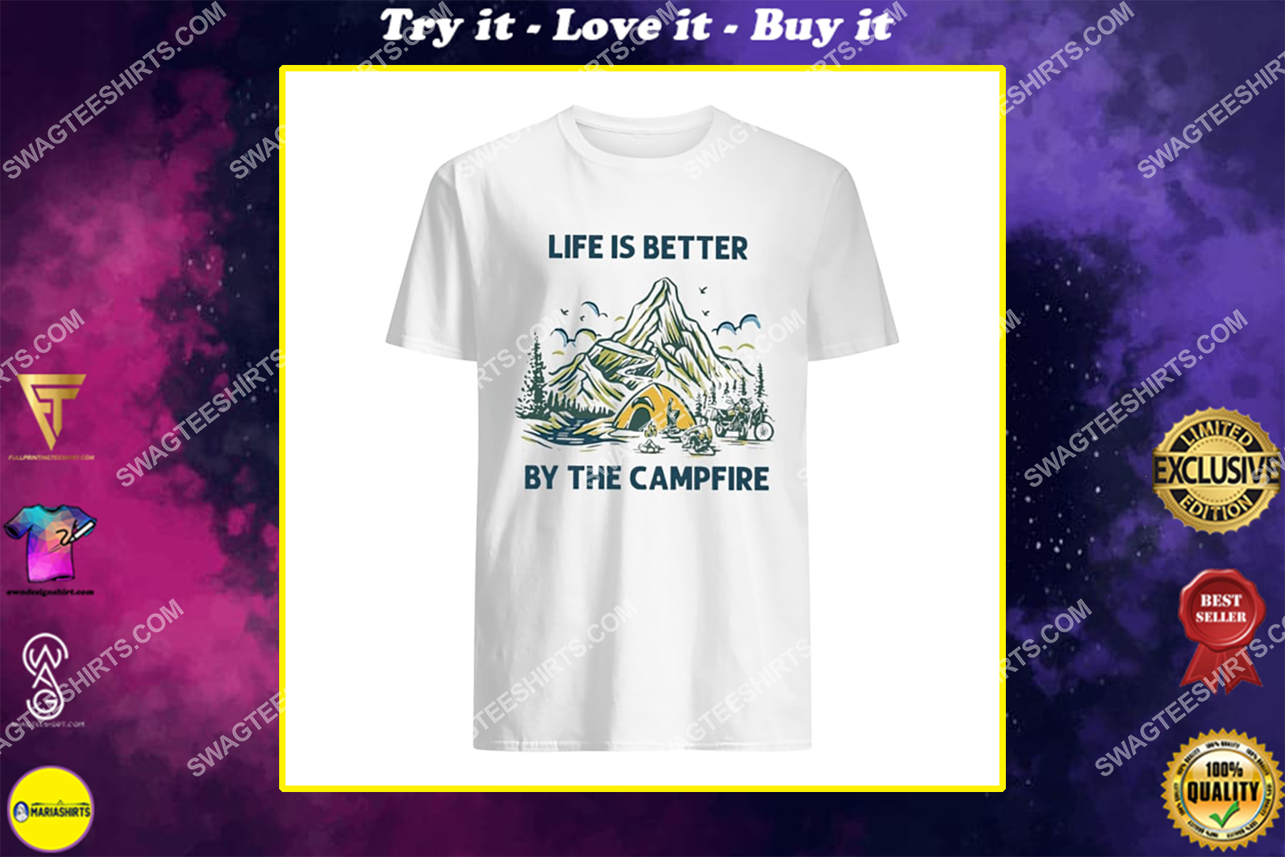 life is better by the campfire for camper shirt