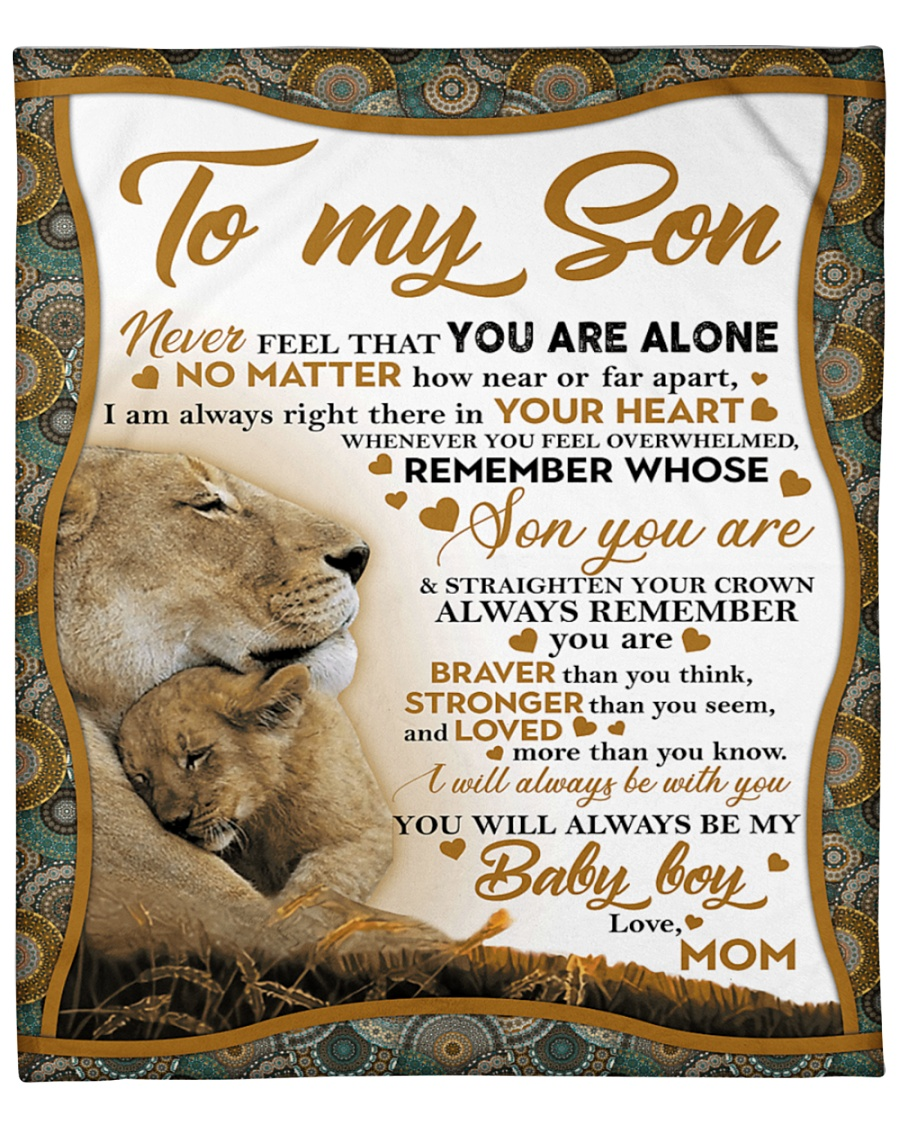 lion to my son i will always be with you your mom blanket 3