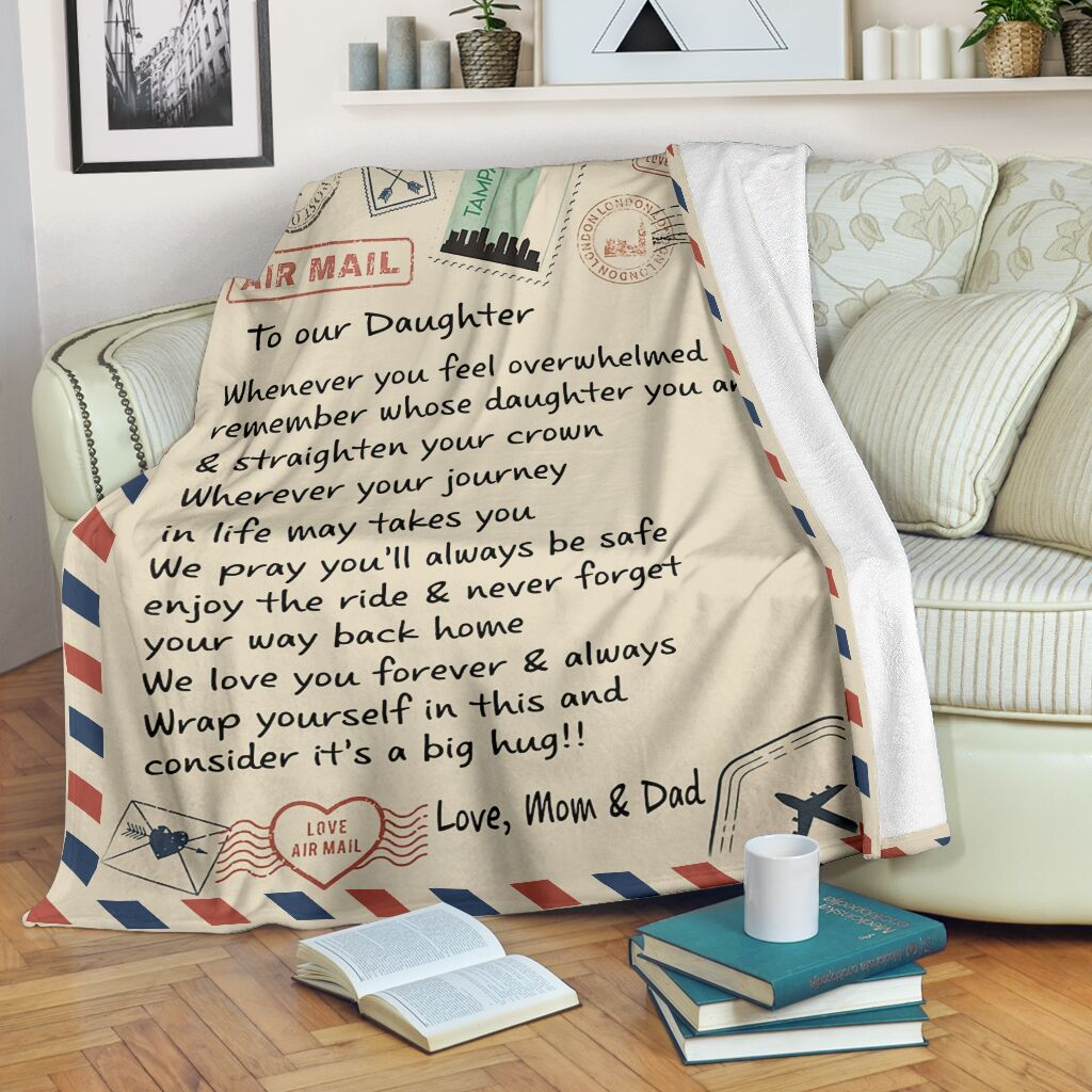 love air mail to our daughter we love you forever and always full printing blanket 2