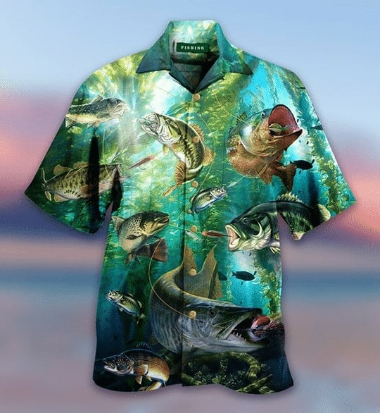 love fishing all over printed hawaiian shirt 2