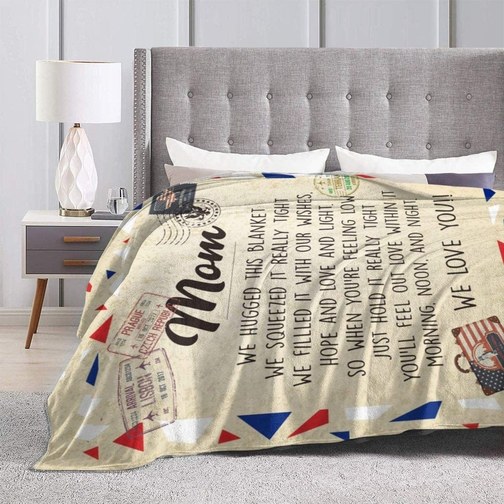 love letter to mom we hugged this blanket we love you blanket 4