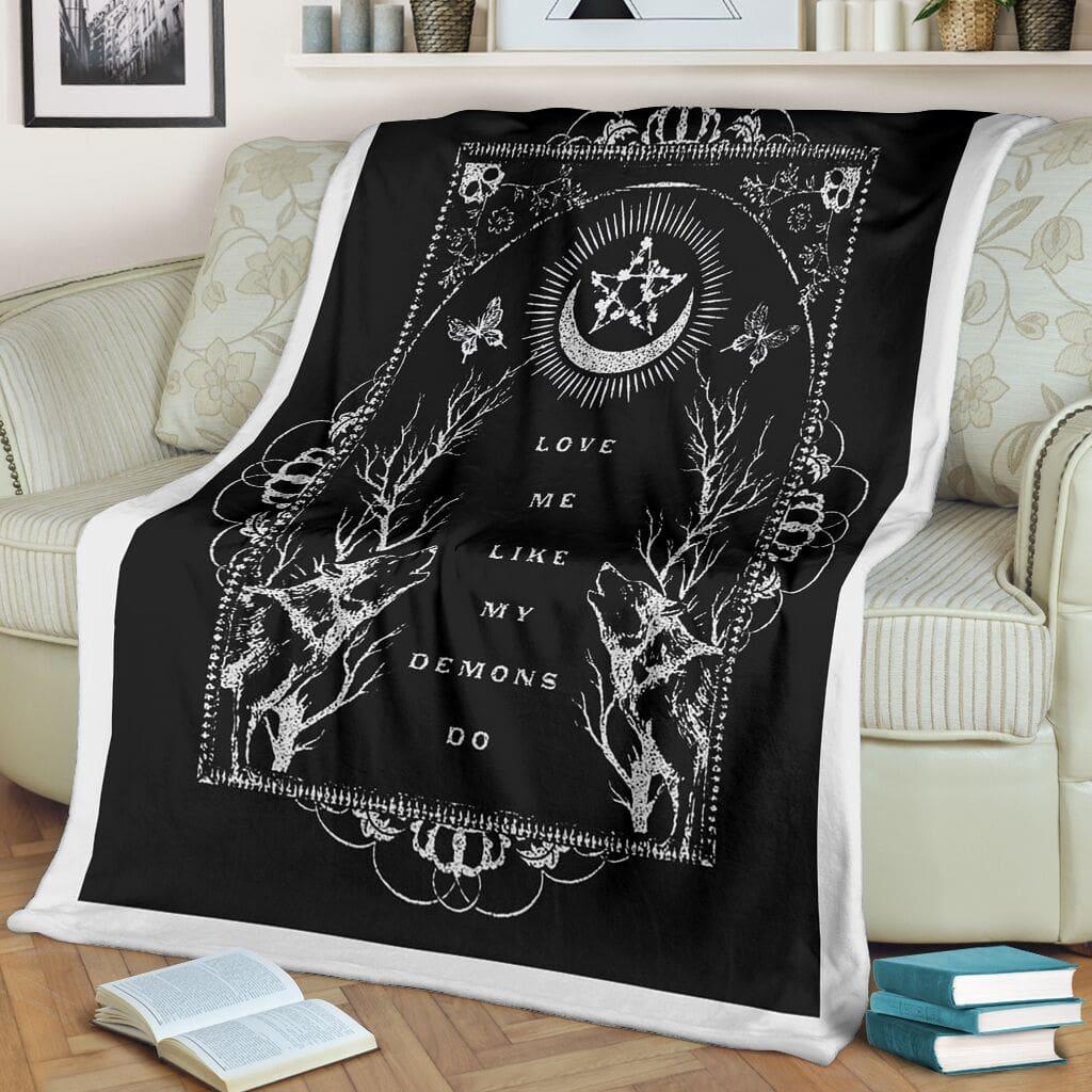 love me like my demons do full printing blanket 2