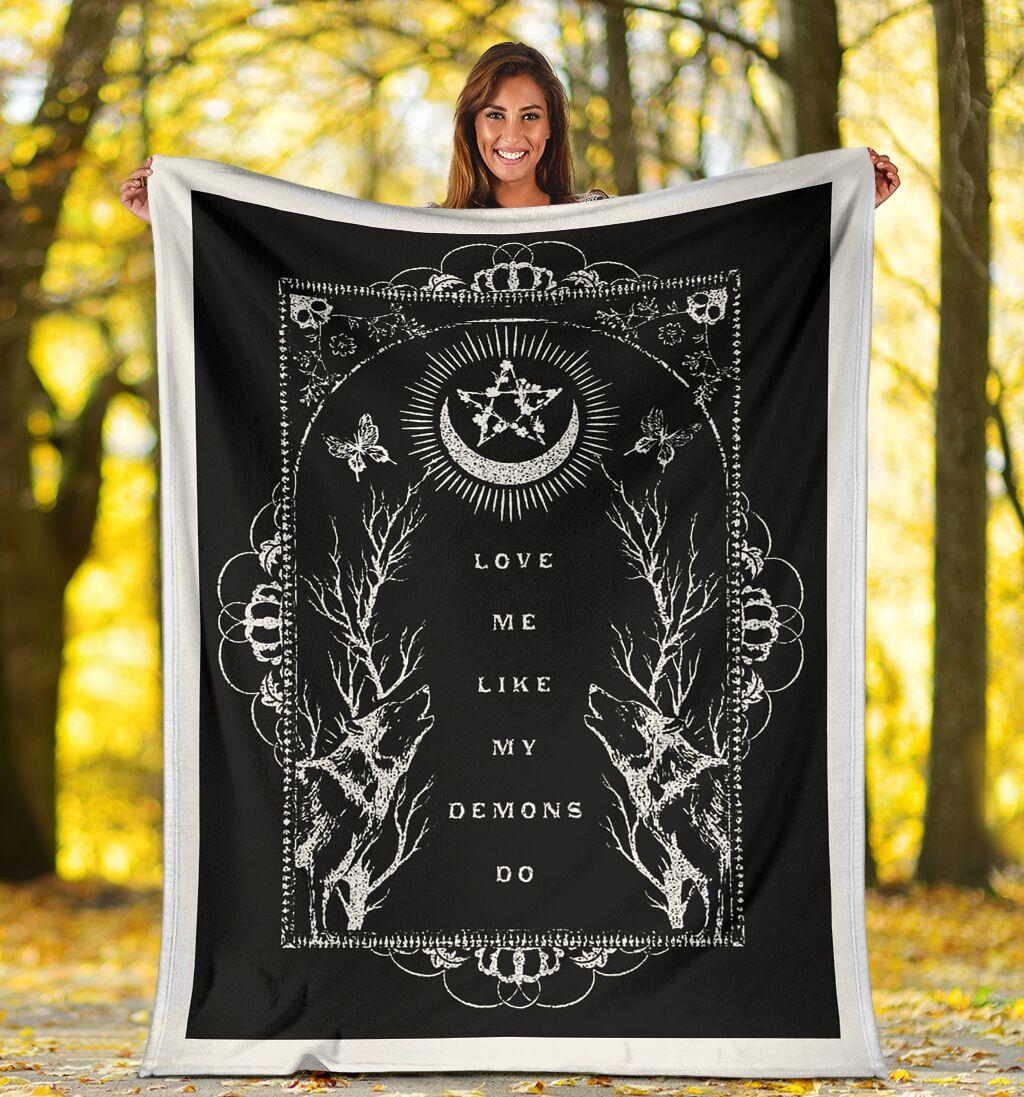 love me like my demons do full printing blanket 4