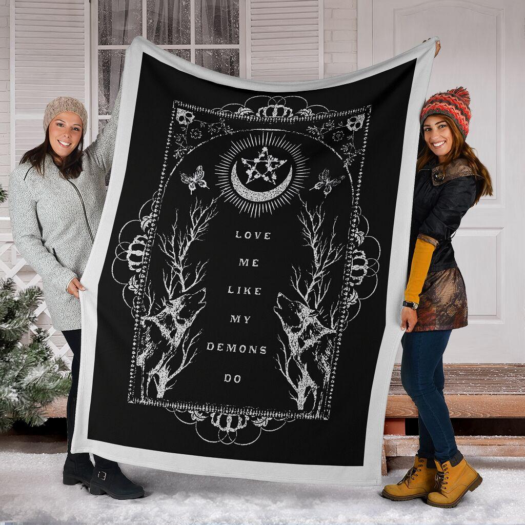 love me like my demons do full printing blanket 5