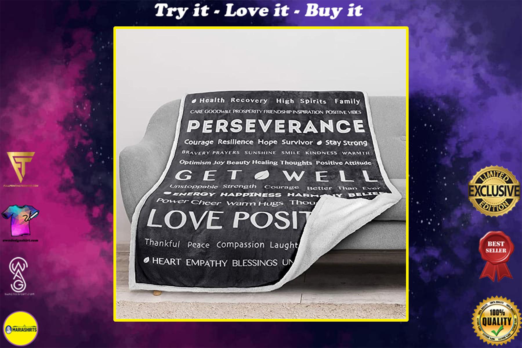 love positive energy healing get will full printing blanket