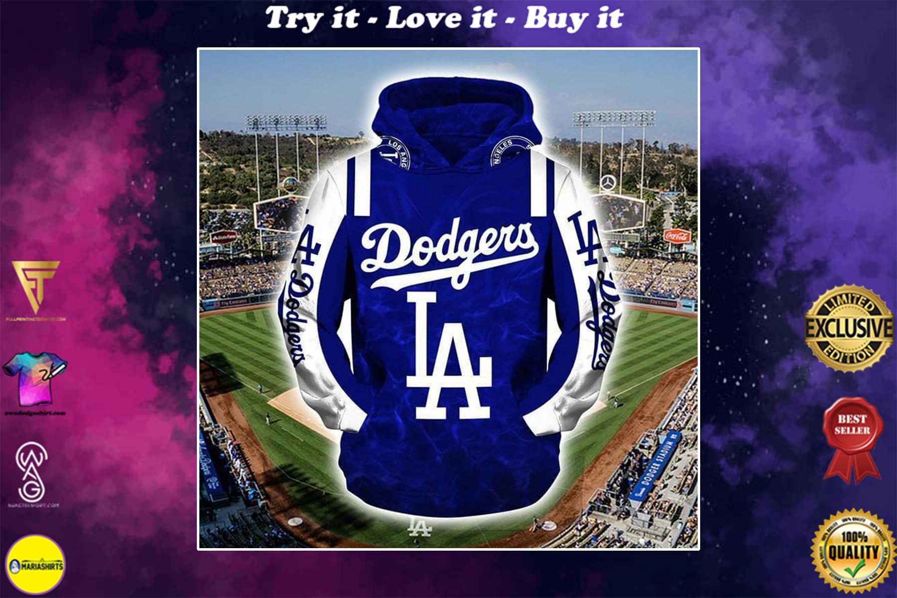 major league baseball los angeles dodgers full over printed shirt