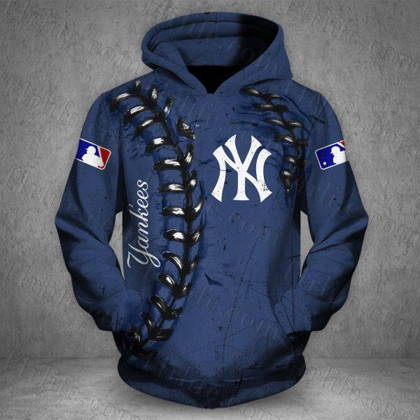 major league baseball new york yankees full over printed hoodie