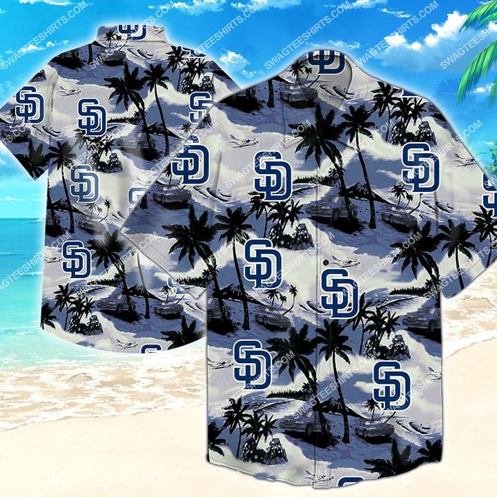 major league baseball san diego padres hawaiian shirt 2