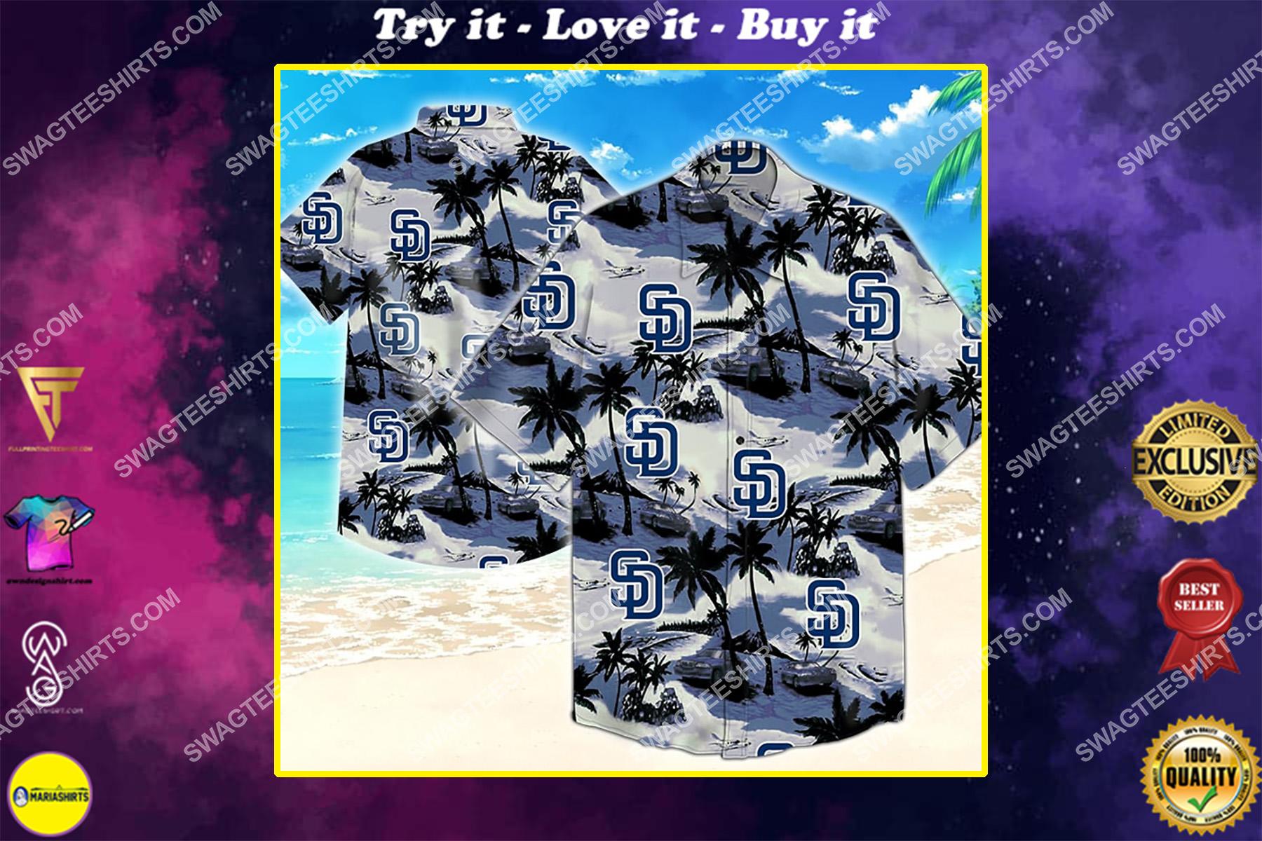 major league baseball san diego padres hawaiian shirt