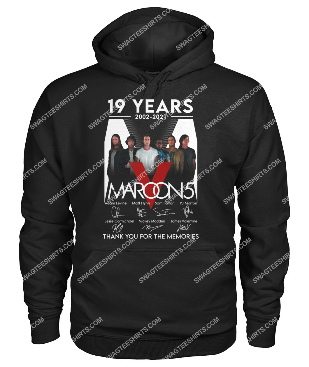 maroon 5 19 years thank you for memories signature hoodie 1