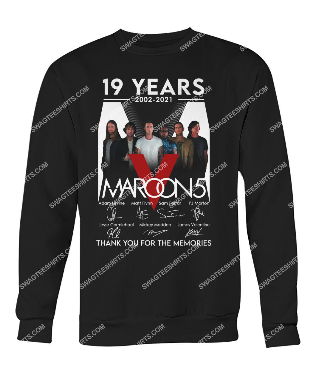 maroon 5 19 years thank you for memories signature sweatshirt 1