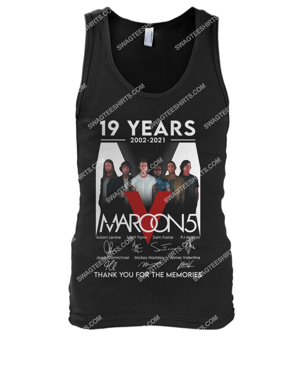 maroon 5 19 years thank you for memories signature tank top 1