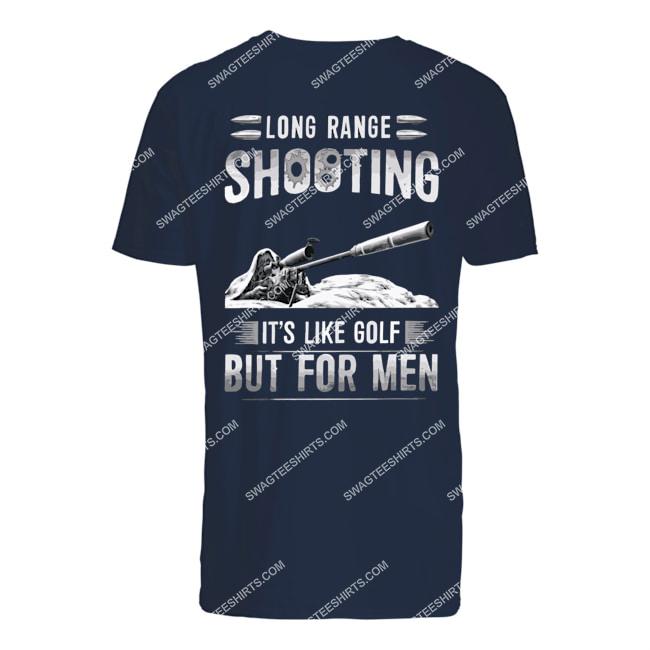 memorial day long range shooting it's like golf but for men tshirt 1