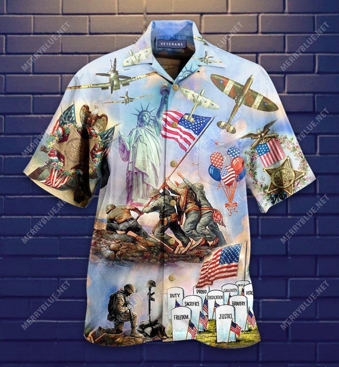 memorial veteran american all over printed hawaiian shirt 4