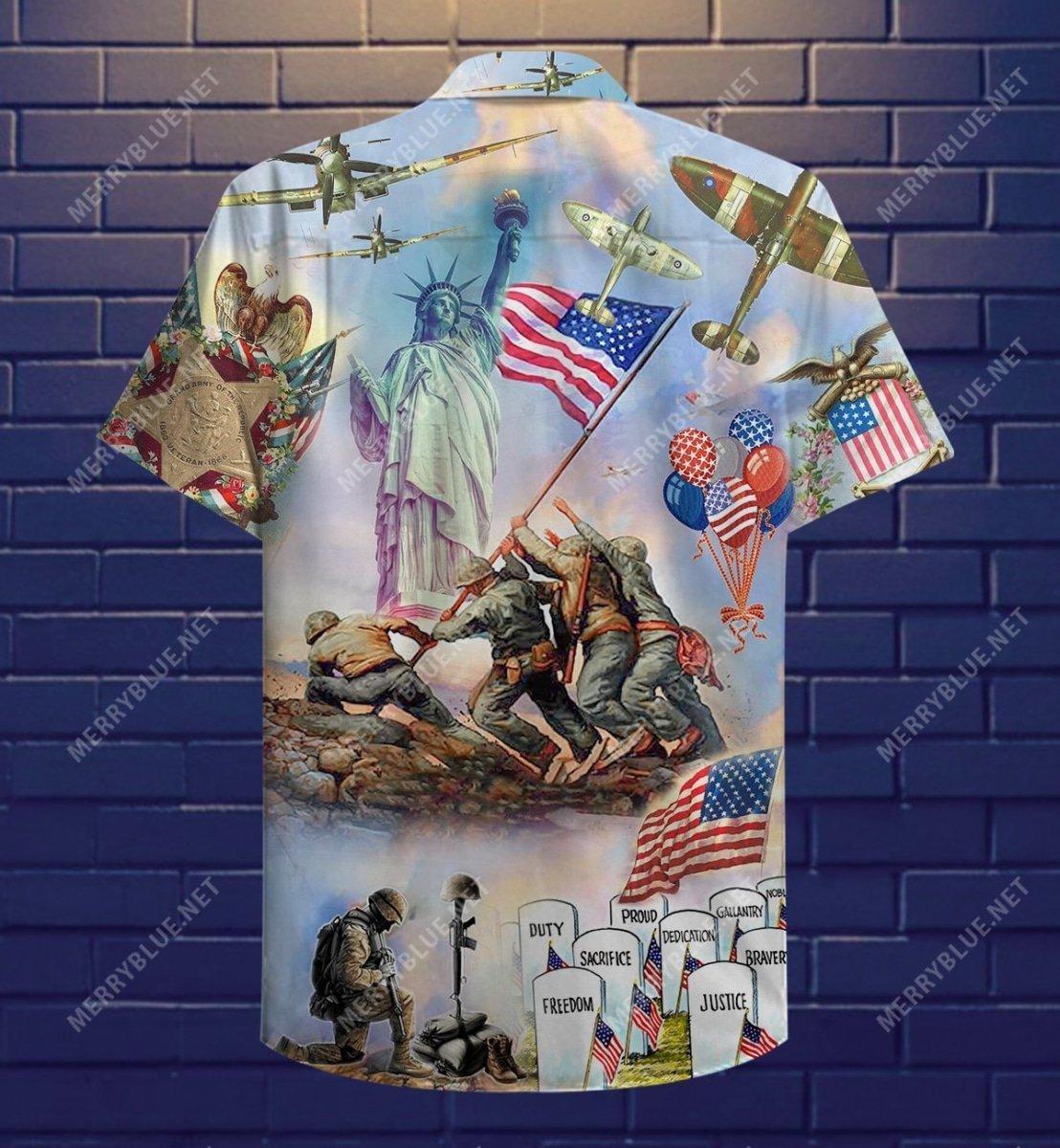 memorial veteran american all over printed hawaiian shirt 5