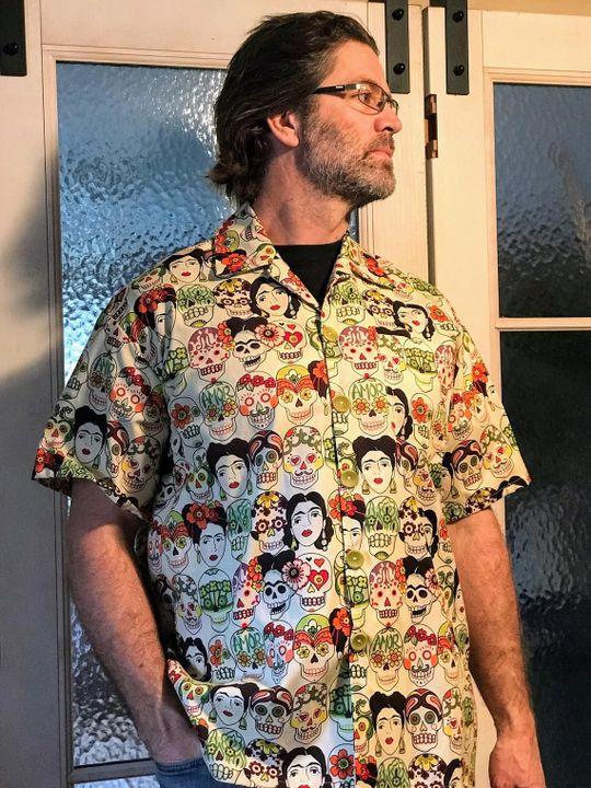 mexican inspired all over printed hawaiian shirt 2