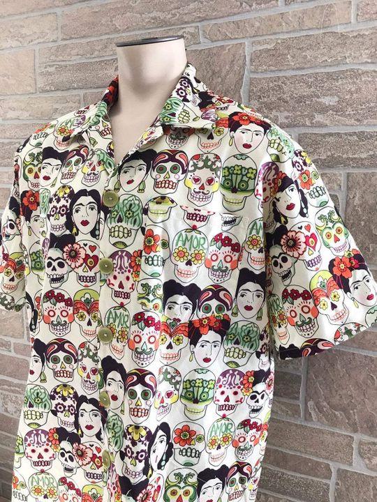 mexican inspired all over printed hawaiian shirt 4