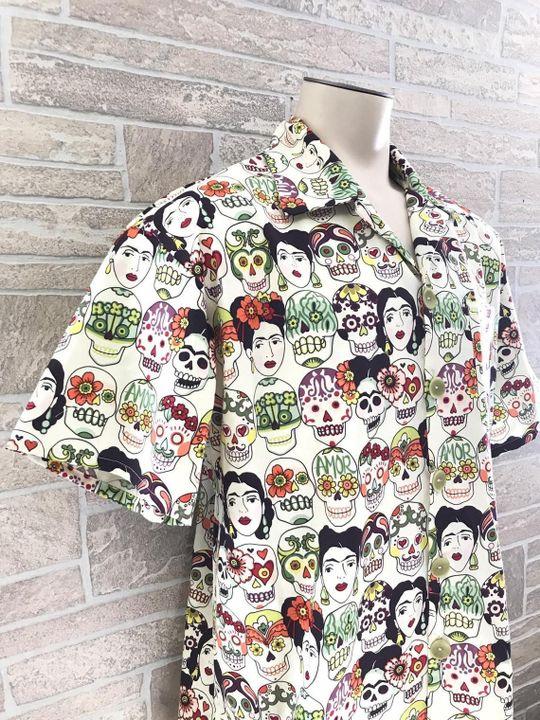 mexican inspired all over printed hawaiian shirt 5