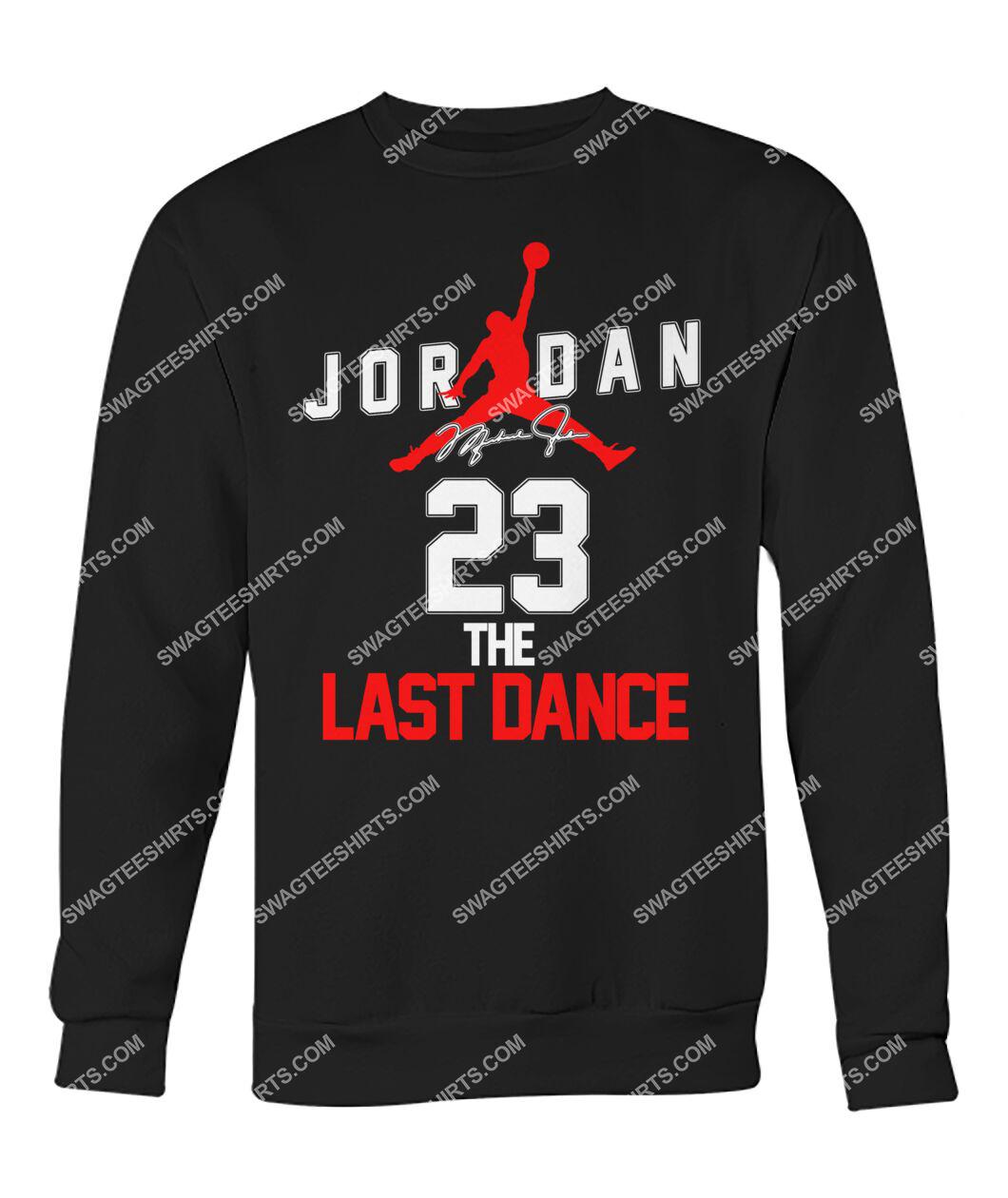 michael jordan 23 the last dance signature sweatshirt 1