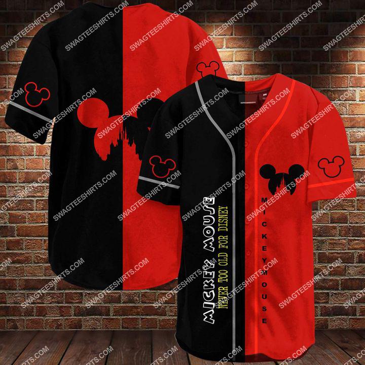 mickey mouse all over printed baseball shirt 1