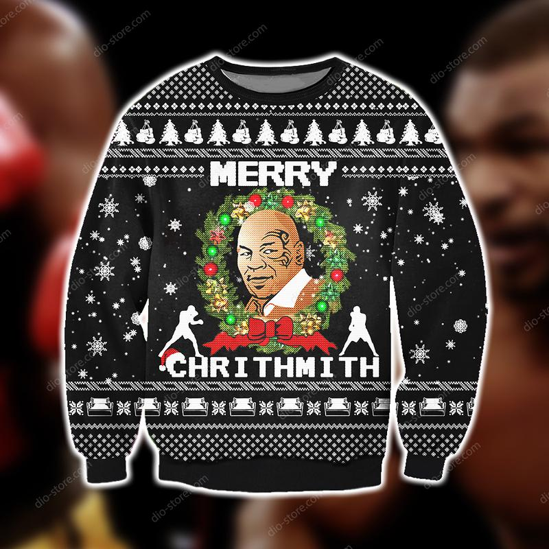 mike tyson merry chrithmith full printing ugly christmas sweater 3
