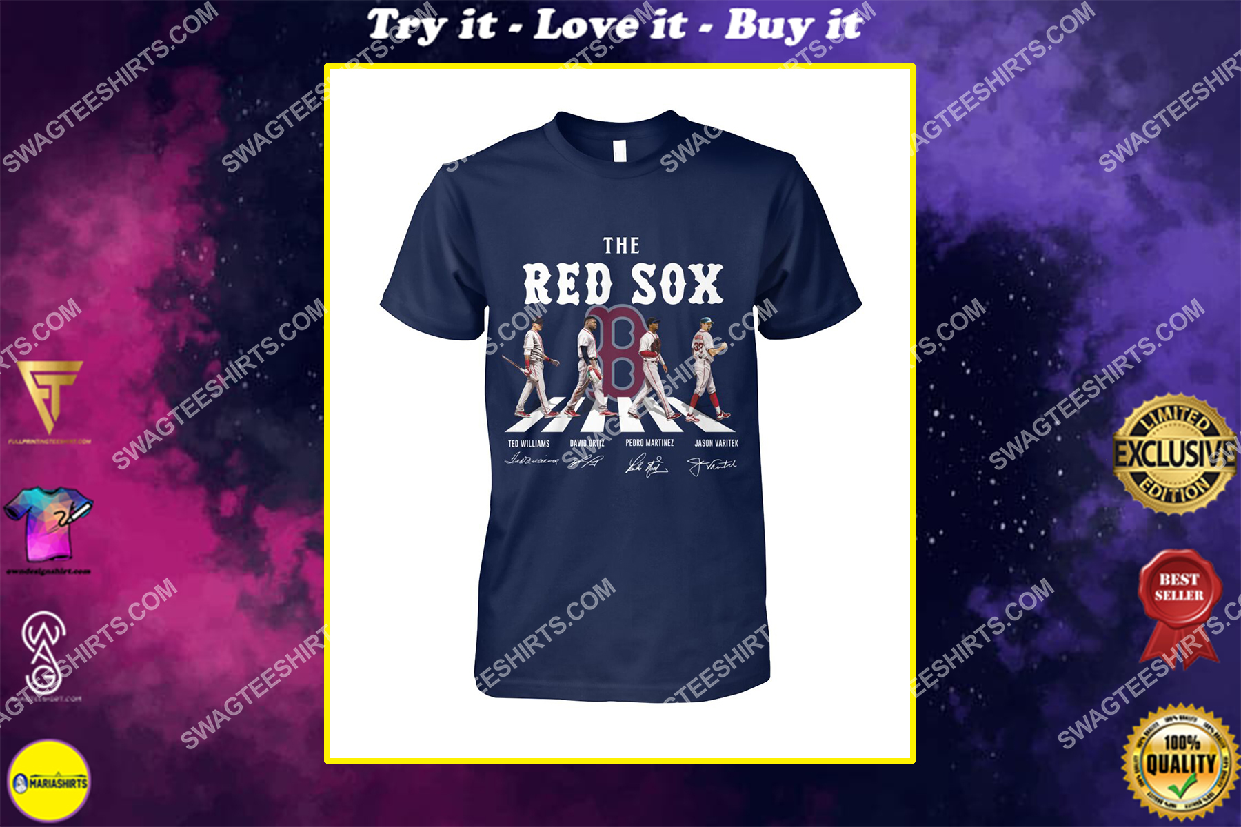 mlb boston red sox signatures abbey road shirt