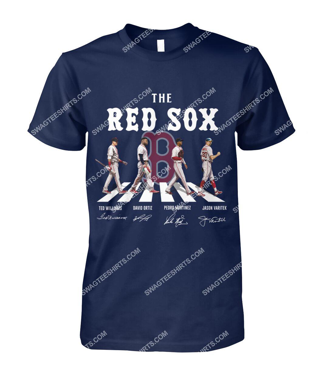 mlb boston red sox signatures abbey road tshirt 1