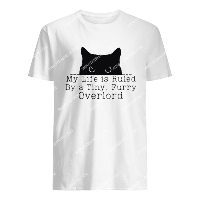 my life is ruled by a tiny furry overlord for cat lover tshirt 1