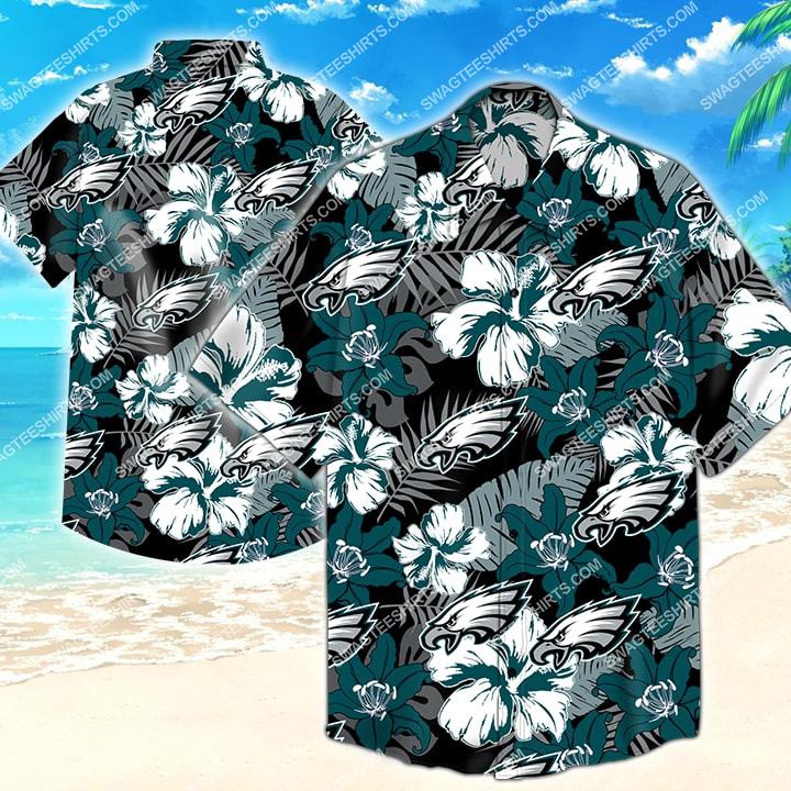 national football league philadelphia eagles hawaiian shirt 2