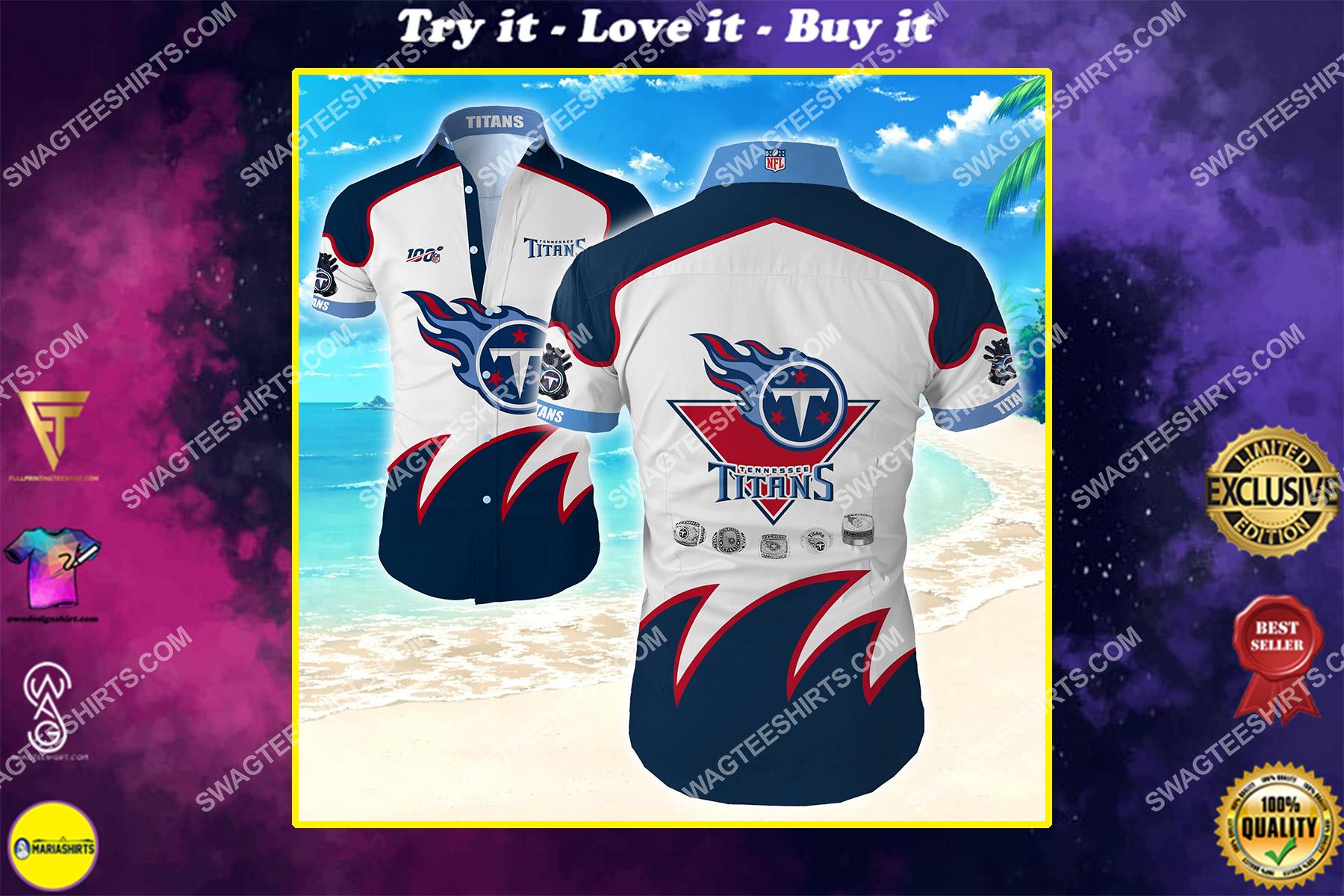 national football league tennessee titans hawaiian shirt