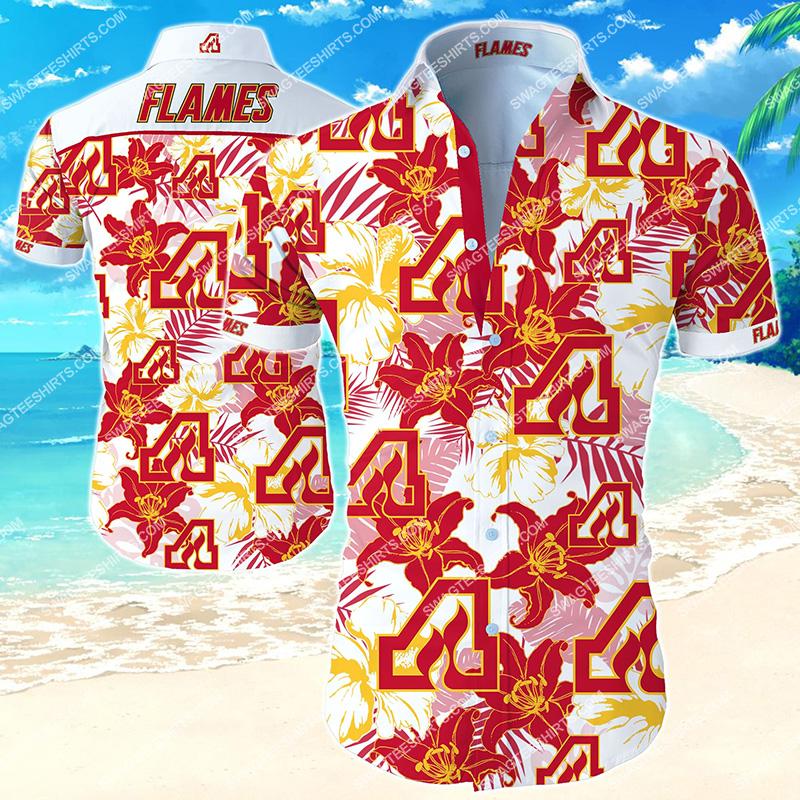 national hockey league atlanta flames hawaiian shirt 2