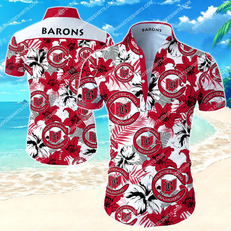 national hockey league cleveland barons hawaiian shirt 2