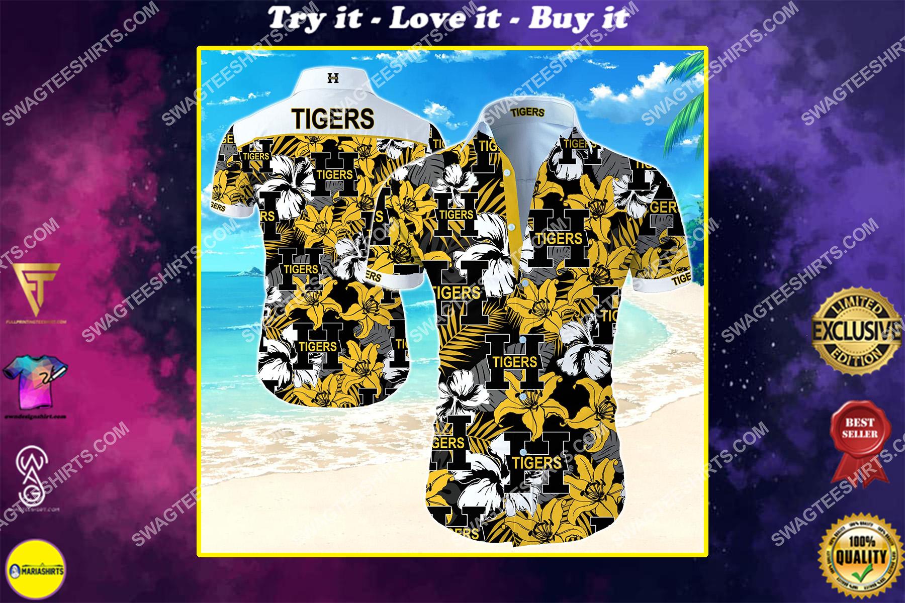 national hockey league hamilton tigers hawaiian shirt
