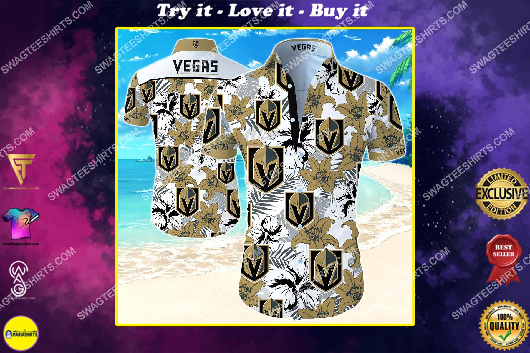 national hockey league vegas golden knights hawaiian shirt