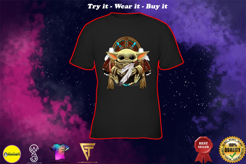 native american baby yoda shirt