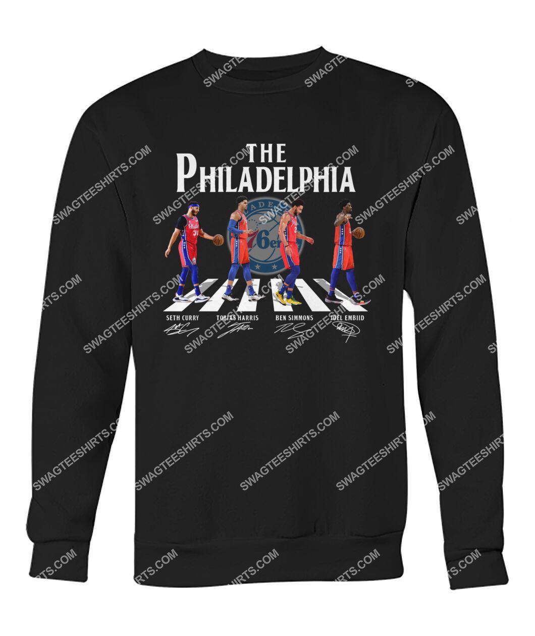 nba philadelphia 76ers signatures abbey road sweatshirt 1