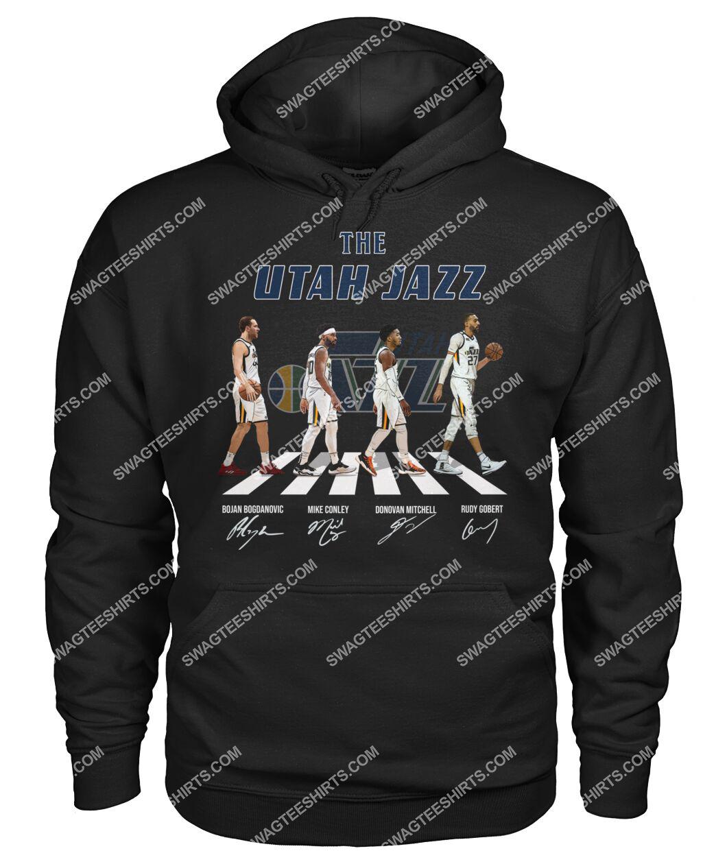 nba utah jazz signatures abbey road hoodie 1