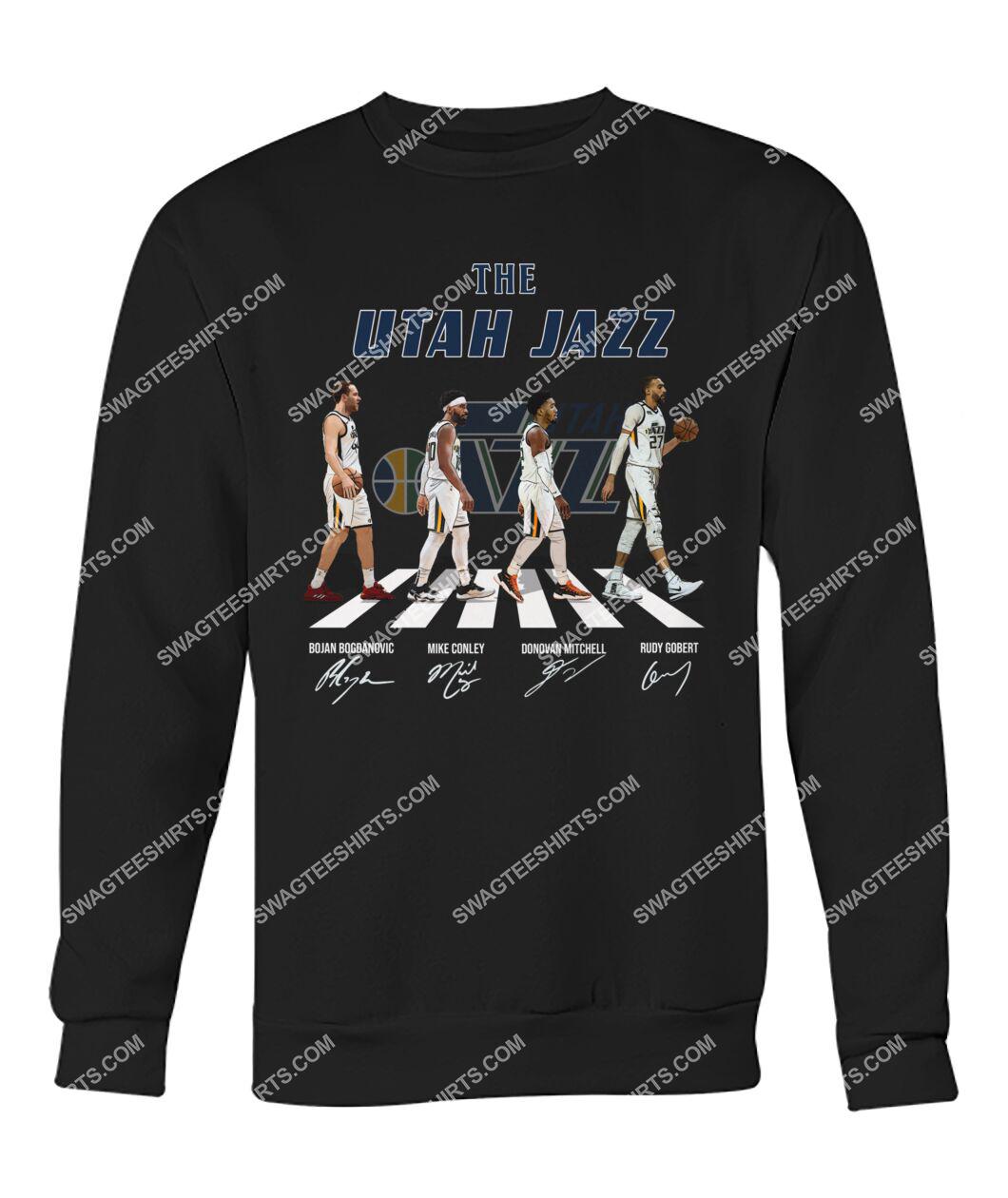 nba utah jazz signatures abbey road sweatshirt 1