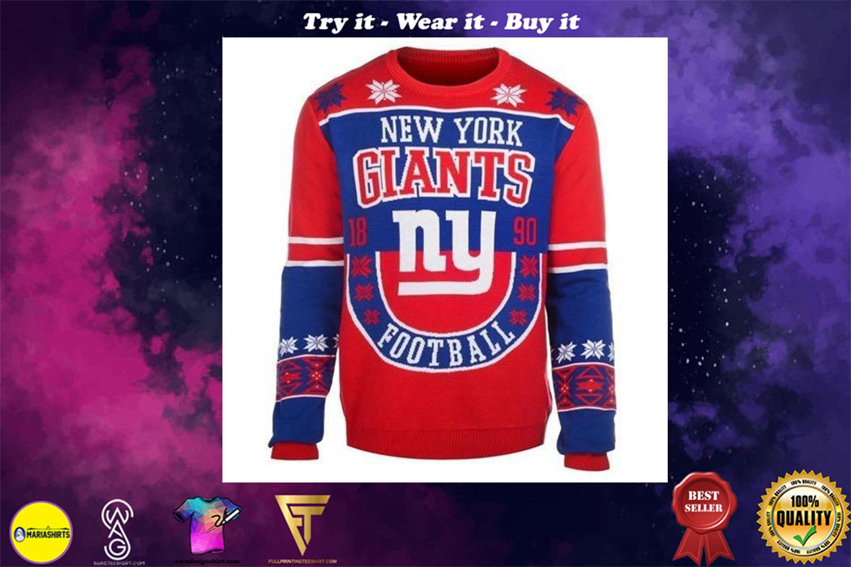 new york giants holiday ugly christmas sweater