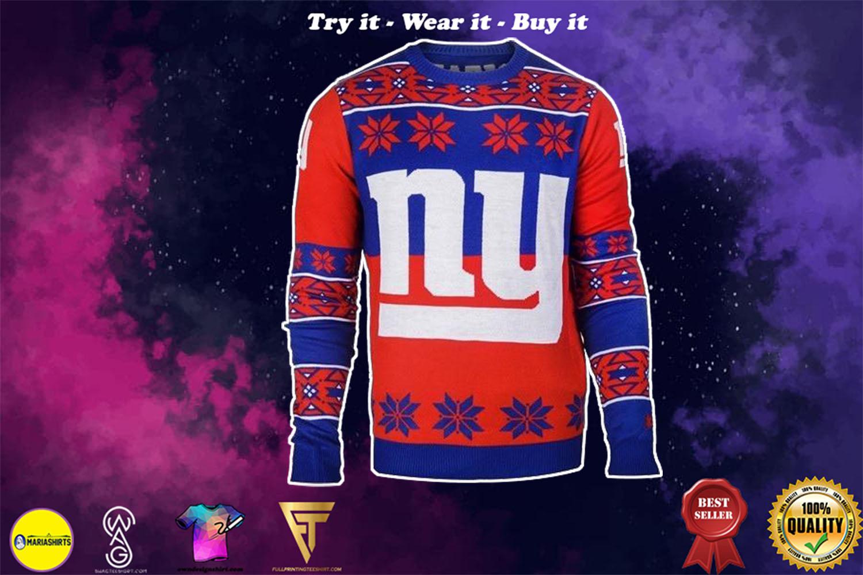 new york giants national football league ugly christmas sweater