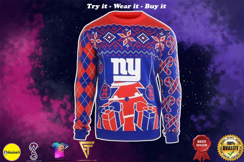new york giants ugly christmas sweater