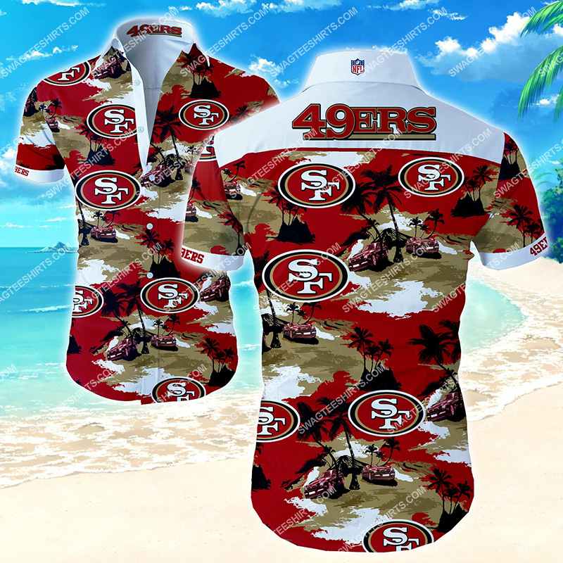 nfl san francisco 49ers all over print hawaiian shirt 2
