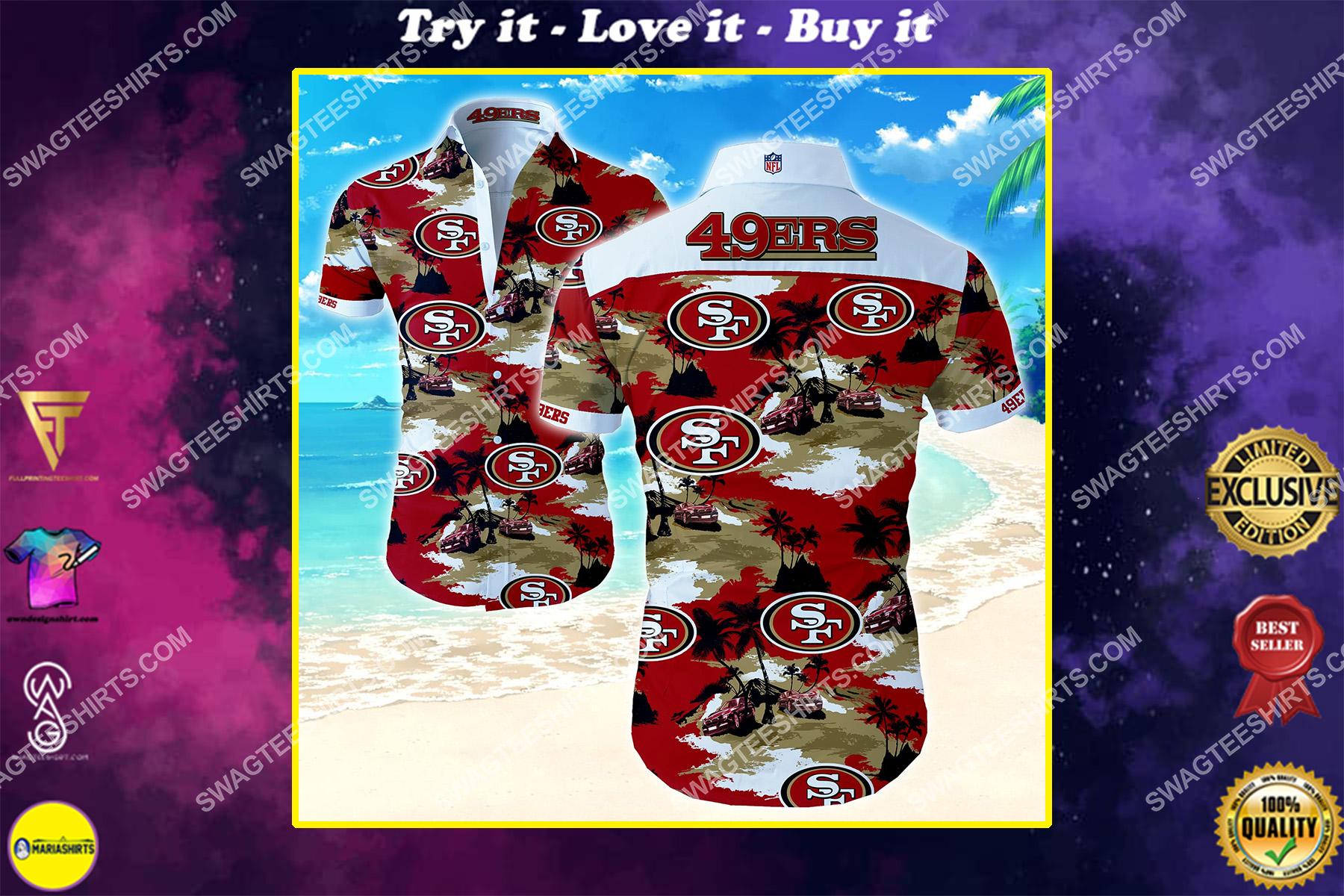 nfl san francisco 49ers all over print hawaiian shirt