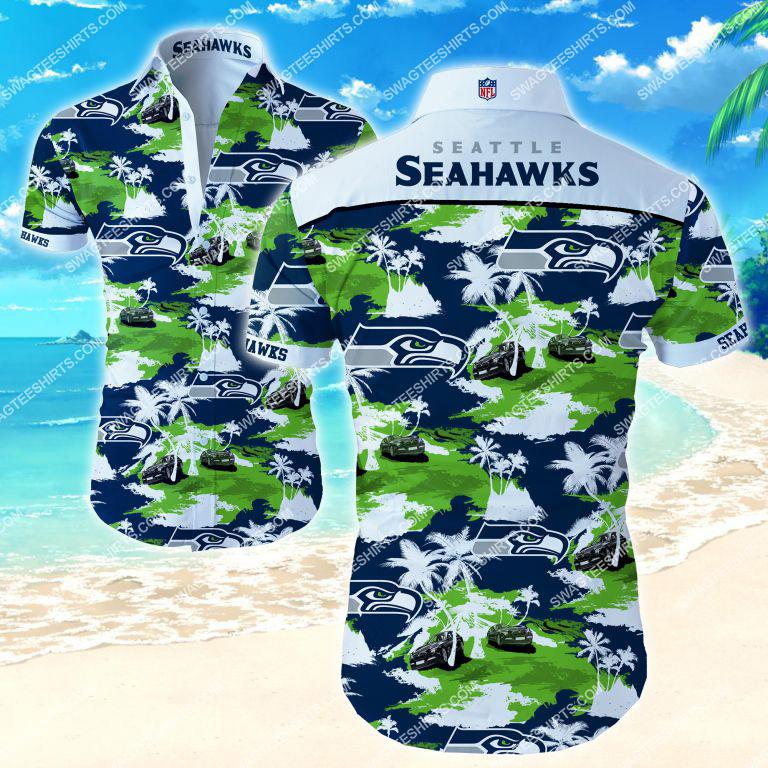 nfl seattle seahawks all over print hawaiian shirt 2 - Copy