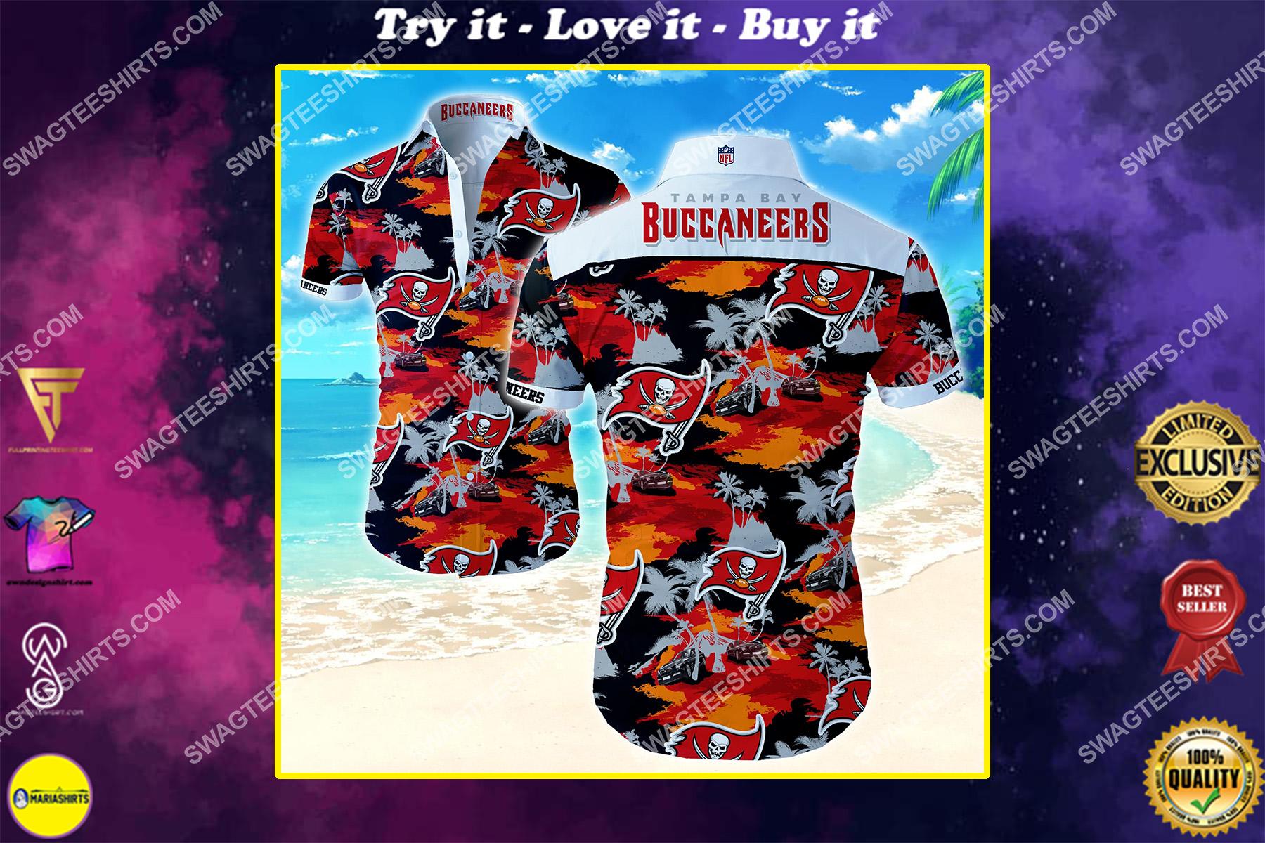 nfl tampa bay buccaneers all over print hawaiian shirt