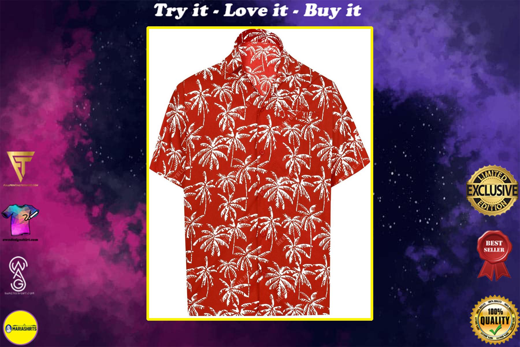 night club party tropical all over printed hawaiian shirt